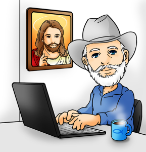miracle of salvation | David Weatherred at his computer