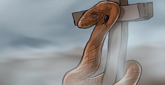 serpent on a pole
