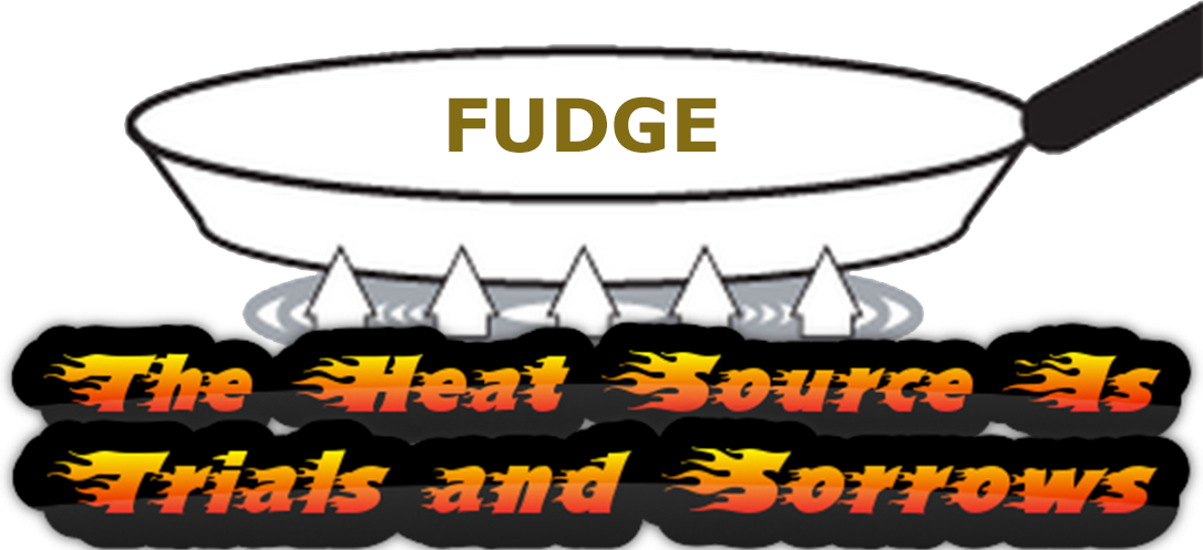 pan of fudge cooking